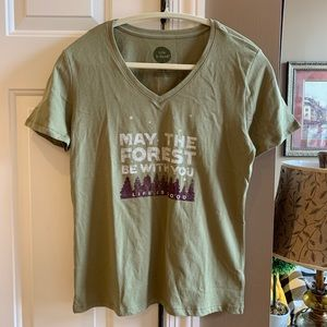 NWT Life Is Good 'Forest Be With You' Top Small